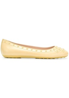 Tod's gommino stud ballerina shoes
