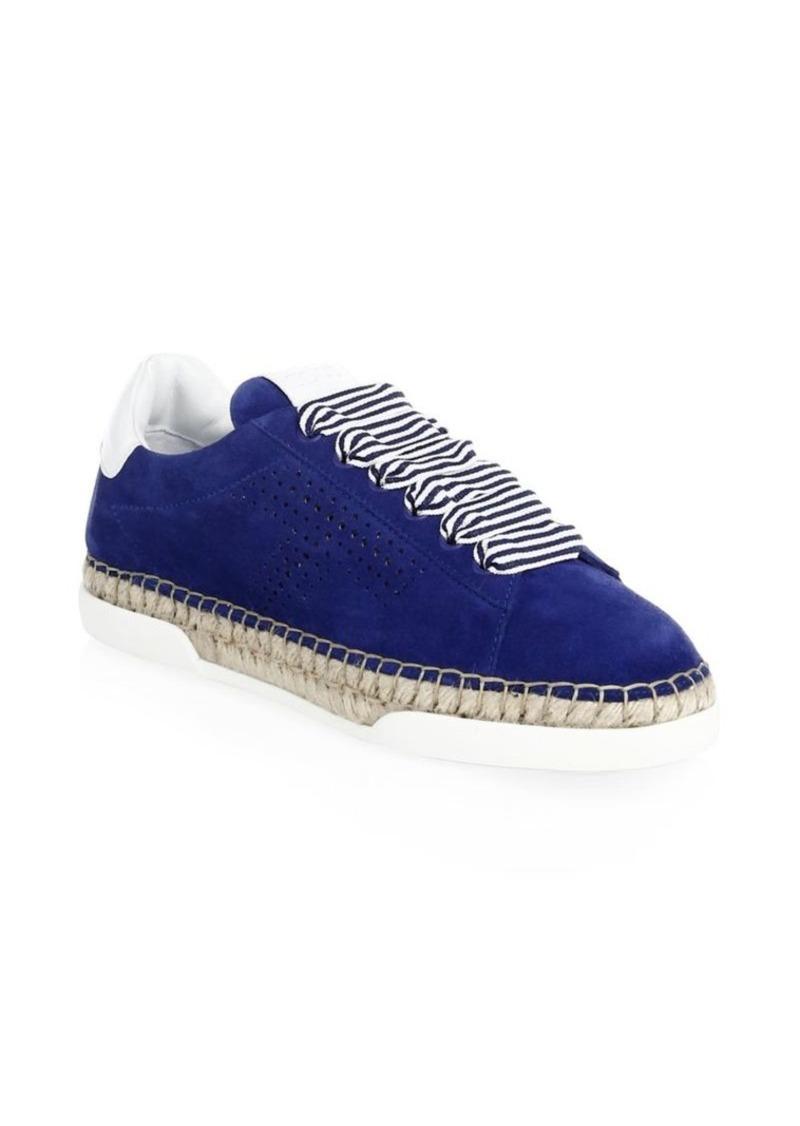 Tod's Lace-Up Blue Espadrilles vBkQol