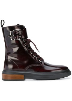 Tod's lace-up buckle boots