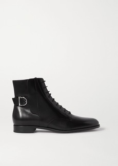 Tod's Lace-up Leather Ankle Boots