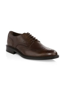 Tod's Lace-Up Leather Wing Tips