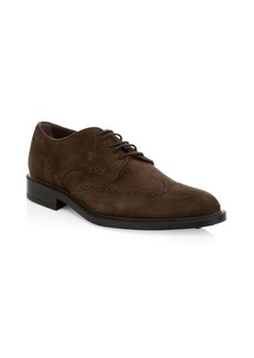 Tod's Lace-Up Suede Wing Tips