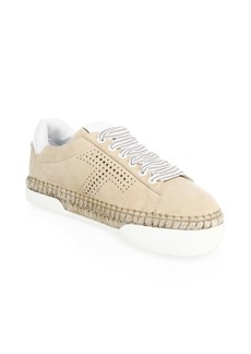 Lace-Up Tan Espadrilles