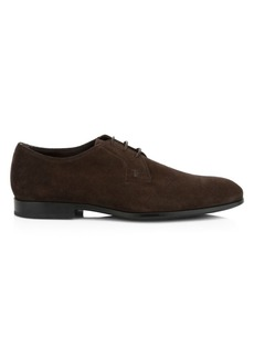 Tod's Lace-Up Wingtip Suede Shoes