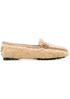 Tod's lamb fur loafers