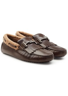 Tod's Leather Loafers with Shearling Insole