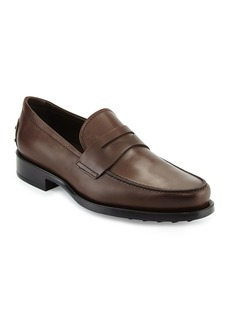 Tod's Leather Penny Loafer  Brown
