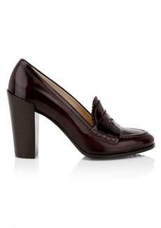 Tod's Leather Penny Loafer Pumps