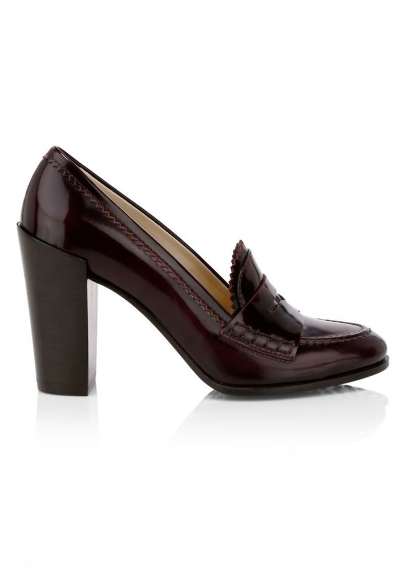 Tod's Block-Heel Leather Loafers