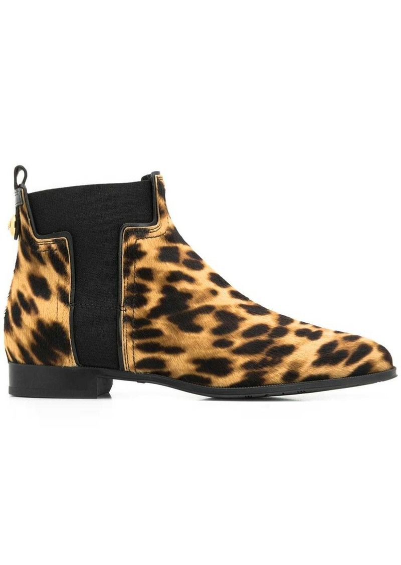 Tod's leopard print ankle boots