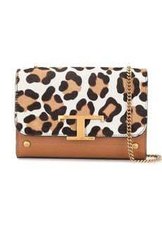 Tod's leopard-print logo crossbody bag
