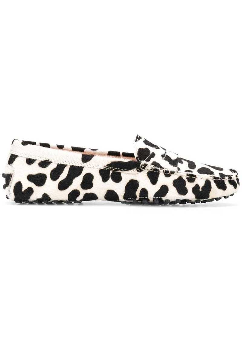 Tod's leopard print slippers