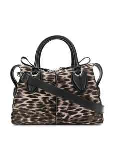 Tod's leopard print tote