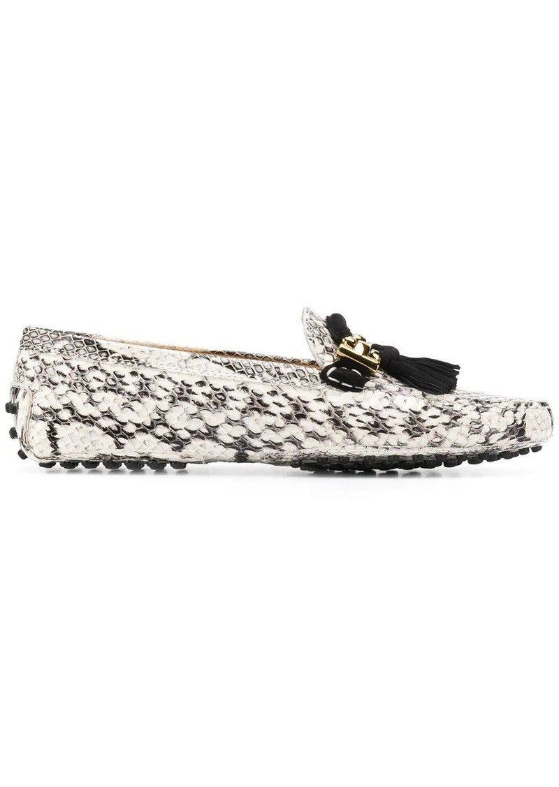 Tod's loafers with snakeskin-effect
