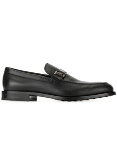 Tod's logo buckle loafers
