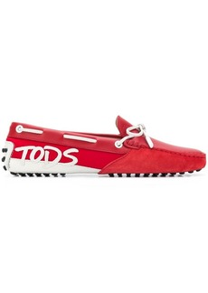 Tod's logo patch Gommino loafers