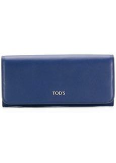 Tod's logo plaque wallet