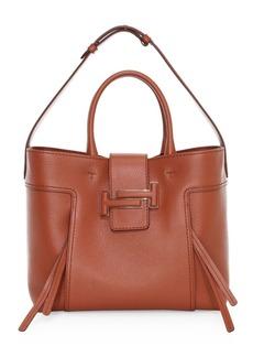 Tod's Medium Double-T Leather Hobo Bag
