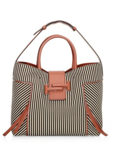 Tod's Medium Double T Stripe Shopping Bag