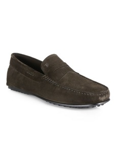 Tod's Men's City Gommini Penny Suede Drivers