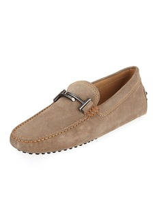 Tod's Men's Gommini Double-T Suede Driver