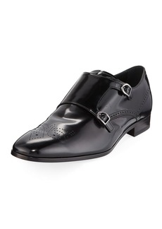 Tod's Men's Shiny Double-Monk Dress Shoes