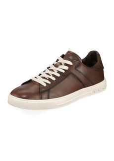Tod's Men's Sportivo Burnished Leather Sneakers