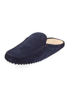 Tod's Men's Suede Slide Drivers
