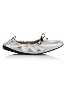 Tod's Metallic Lace Ballerina Flats