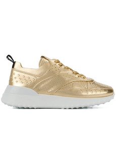 Tod's metallic perforated sneakers