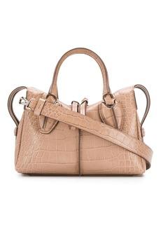 Tod's mini croc embossed bag