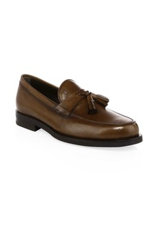 Tod's Moccasino Leather Tassel Loafers