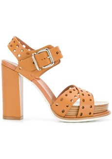 Tod's perforated platform sandals