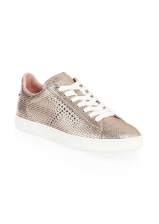 Perforated T Rose Gold Sneakers