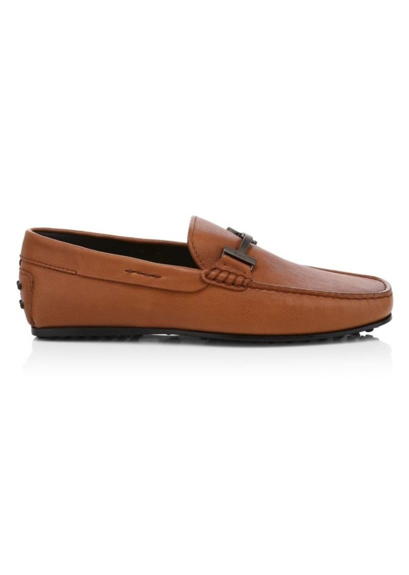 Tod's Polo Double T City Gommini Leather Drivers