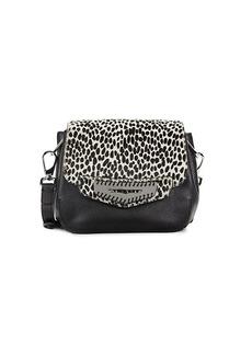 Tod's Printed Leather & Calf Hair Crossbody Bag