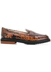 Tod's python print loafers