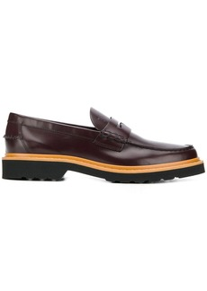 Tod's ribbed sole loafers