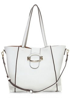 Tod's Ring Leather Shopping Tote Bag