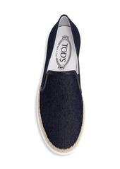 Tod's Slip-On Denim Espadrille Sneakers