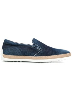Tod's slip-on denim sneakers
