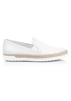 Tod's Slip-On Leather Espadrille Sneakers