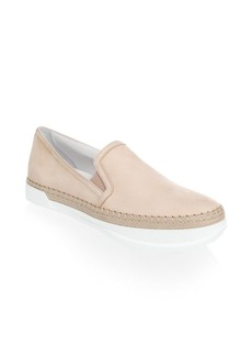 Slip-On Leather Espadrilles