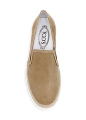 Tod's Slip-On Suede Espadrille Sneakers