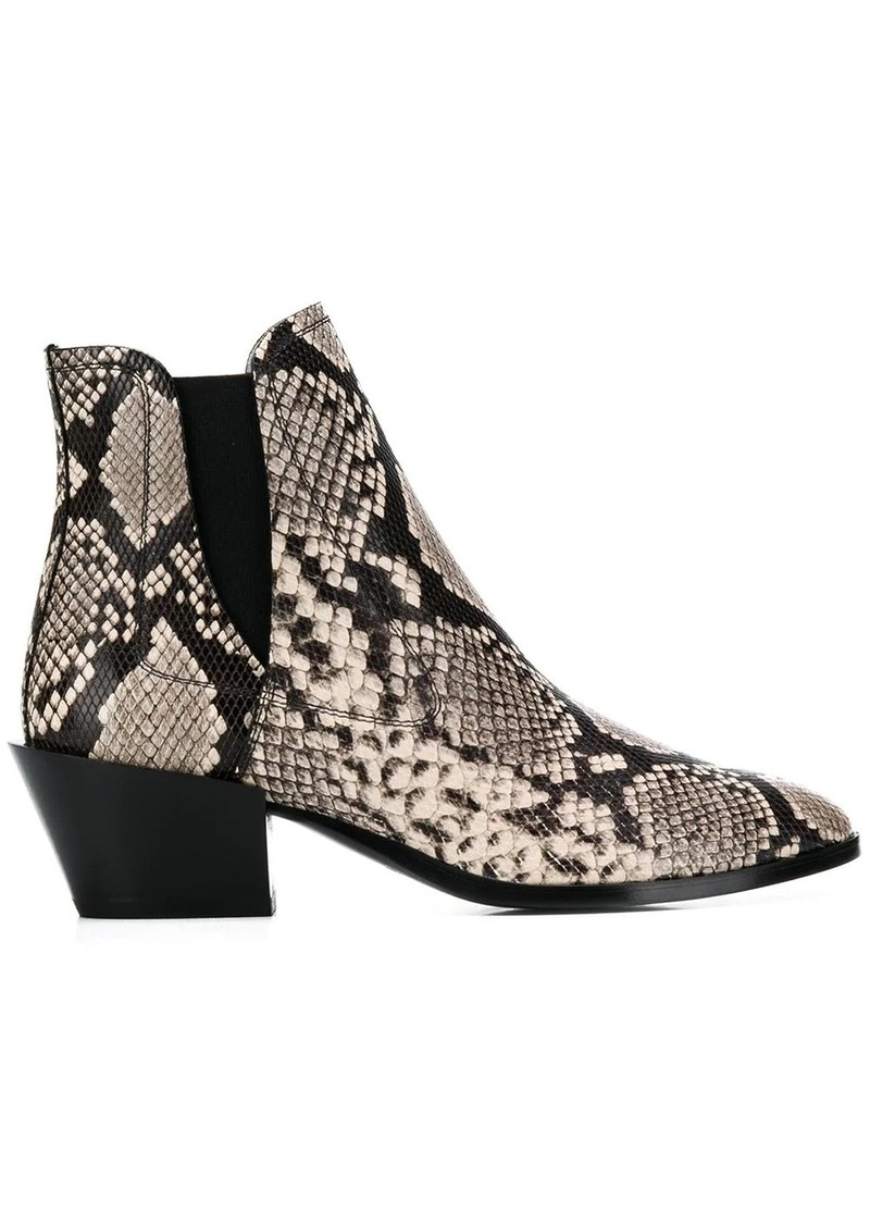Tod's snake effect ankle boots