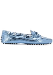 Tod's snake-effect loafers