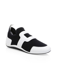 Roger Vivier Sporty Leather Low-Top Sneakers