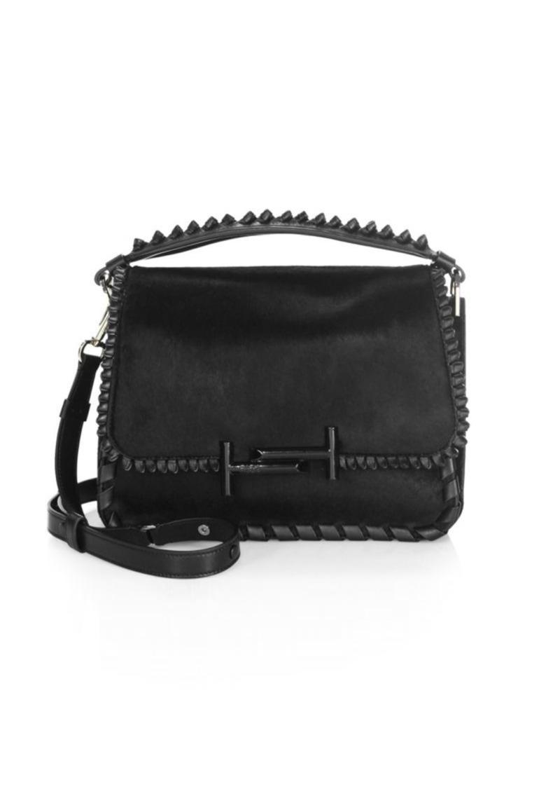 46b743b561093 Tod's Studded Leather Messenger Bag | Handbags