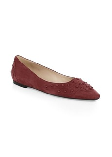 Tod's Studded Suede Flats