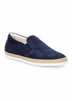 Tod's Suede Espadrille Slip-On Sneaker  Navy